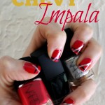 Nails inspired by the Chevy Impala