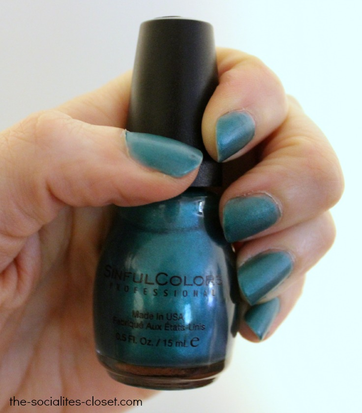 SinfulColors Silk + Satin Real Teal
