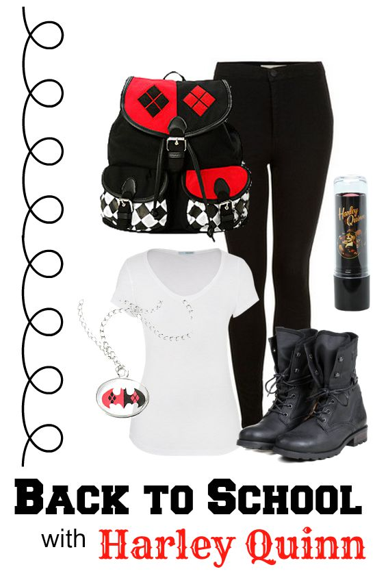 Harley Quinn Back To School Fashions for Juniors
