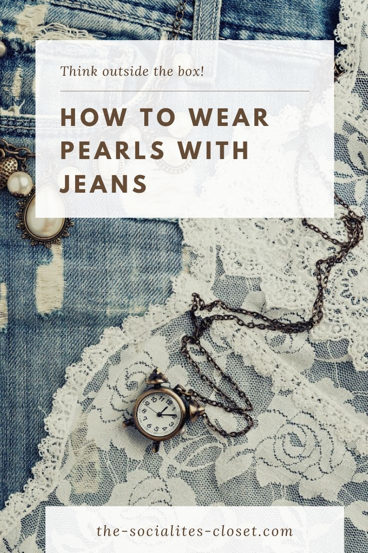 How to Wear Pearls with Jeans for a Casual Elegance #FashionTips #pearls #womenover40