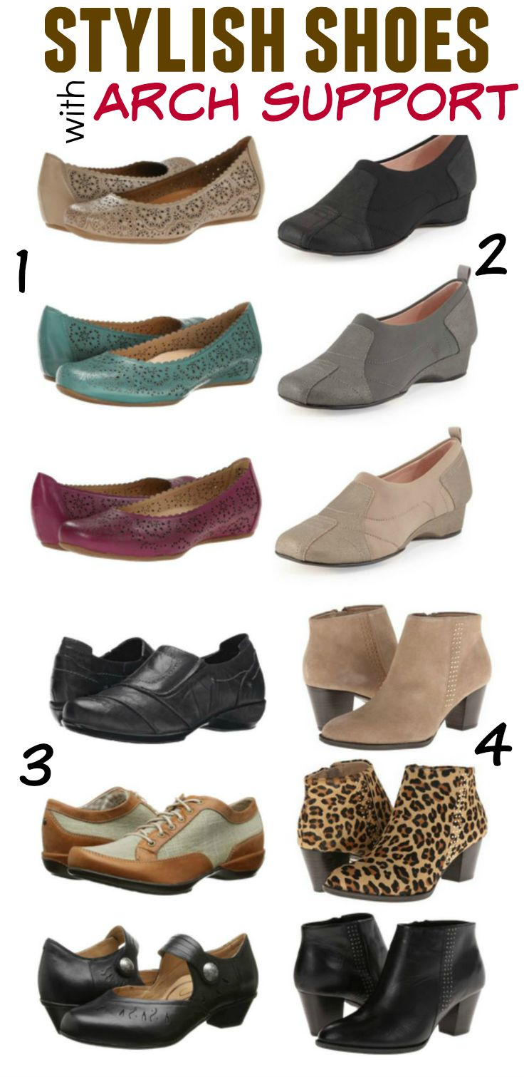 Stylish shoes with arch support