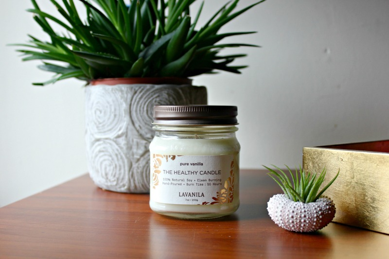 LAVANILA's new hand-poured candle is beautifully made with 100% natural soybean wax. Healthy, clean and soot free, this candle uses a lead-free cotton wick and high-grade fragrance oils that deliver a burn time of approximately 50 hours. Simple and modern, the reusable mason jar packaging is beautiful and made to complement every design style with no added dyes or chemicals.