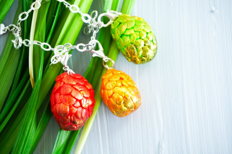 Charm Bracelet DIY with Iridescent Dragon Eggs