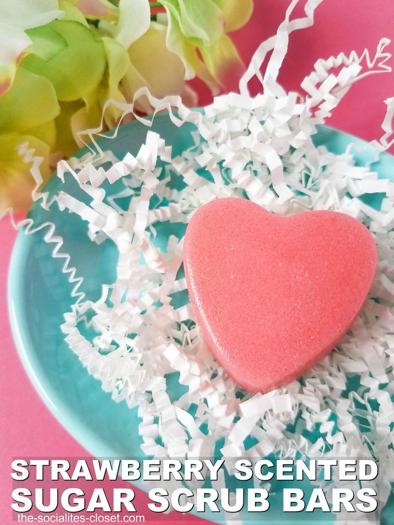 Sugar Scrub Bars Recipe: Strawberry Heart Sugar Scrub